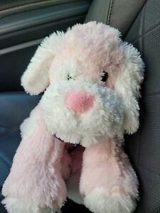 "Circo Pink and White Puppy Dog Plush 18"" Floppy 2010 Target Stuffed Animal"