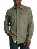 Wrangler Men's and Big & Tall Long Sleeve Stretch Twill Shirt, up to Size 3XL