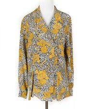 Vintage Dana Buchman Gold Chain And Animal Print Blouse Silk Size 8