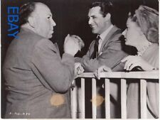 Alfred Hitchcock Cary Grant Ingrid Bergman Notorious VINTAGE Photo candid on set