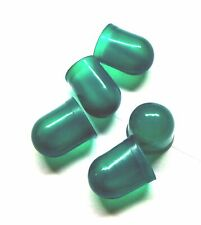Dark Green Bulb Cover Cap Boots 5-Pack, fits 193, 194, 44, 47 + many more (10mm)