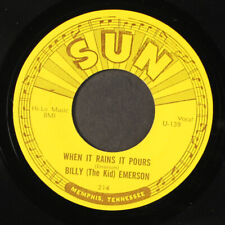 """BILLY 'THE KID' EMERSON: move baby move / when it rains it pours SUN 7"""" Single"""
