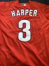 New With Tags Majestic Red/ Road Phillies Bryce Harper Jersey Size Medium