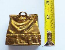 Antique Small ITALIAN Brass OPEN VALISE BAG PURSE MATCH HOLDER Striker Bottom
