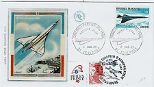 FDC-SPERSONIC CONCORDE-THE ANGLO-FRENCH-PREMIER VOL-2MARS 1969+PHILEXFRANCE-1987