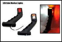 LED Lamp Rubber Side Outline Stalk 2X Side Marker Lights 12V 24V Trailer Truck