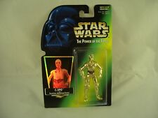Star Wars Power of the Force HOLO FOIL C3PO Figure
