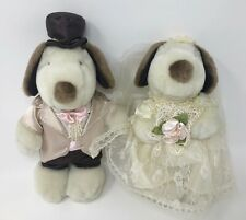 Peanuts Snoopy & Bride Wedding Plush Set