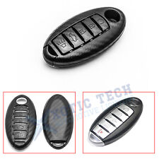Carbon Fiber Style Smart Key Fob Cover Case Holder for Nissan Infiniti 5 Button
