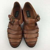 716bcd893 Bass Muzi Men 8 M Brown Leather Dress Sandals Fisherman Style Brazil