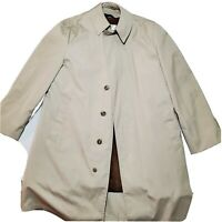 Vintage English Squire Trench Coat Rain Overcoat Men's 42L Removable Lining