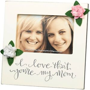"""I Love That You're My Mom Plaque Frame Square 8 X 8"""" Holds 6X4"""" Photo Table Top"""