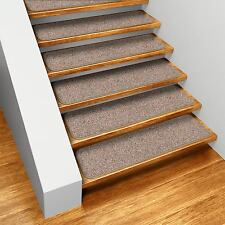 99317 House Home and More Set of 15 Skid-resistant Carpet Stair Treads 8 X27 Pebble Beige Runner Rugs 764842993172