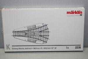 Märklin 2270 Three Way Switch K Track Gauge H0 Boxed