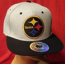 Pittsburg Steelers Hat Flat Bill 2 Tone Snapback Hat