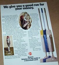 1972 print ad page - Hoover Handivac vacuum cleaners lady home appliance Advert