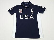 Polo Ralph Lauren Big Pony Bleu Marine Chemise MEN'S custom fit MESH USA XXL 2XL Tissue