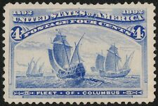 US Sc# 233 *MINT NO GUM LH* { JUMBO -XF- CENTERED } GREAT 1893 FLEET OF COLUMBUS