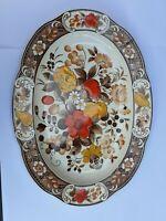 Vintage Hand Painted Serving Plate Asake Yokkaichi Japan