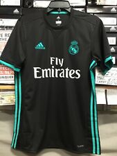 Adidas Real Madrid Away Jersey 2017-18  Black And Blue Size  XXL     Only