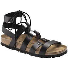 Papillio by Birkenstock Cleo Black Womens Leather Gladiator Strappy Sandals