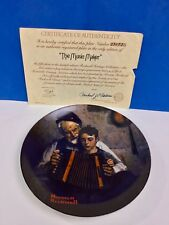 The Music Maker Accordian Norman Rockwell Boy With Grandpa collector Plate
