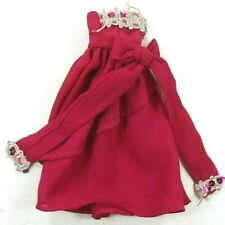 Barbie Vintage Fitting Clone Gown Rosey Pink Silver Trim & Sequins Big Bow