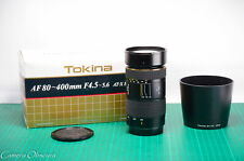 Tokina AF 80-400mm f/4.5-5.6 AT-X 840 SD Telephoto Zoom Lens for Canon EF