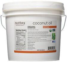 Nutiva Organic Coconut Oil Refined Superfood 1 Gallon (128 oz) NEW FREE SHIPPING