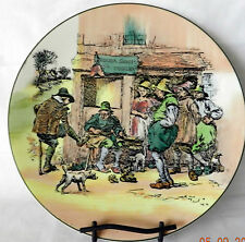 "Vintage Royal Doulton Dickens Series ""El Cobler"" Cobbler Plate Set Of Two (2)"