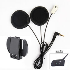 Helmet Headset Mic Speaker+Clips for V6 Motorcycle Bluetooth Interphone Intercom