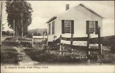 Falls Village CT Ye District School Schule c1910 Postcard