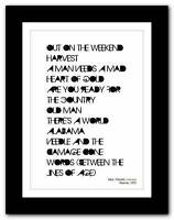 ❤ NEIL YOUNG Harvest ❤ typography poster art print - A3 A2 A1 A4
