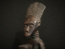 Afrikanische Kunst, dunkles Holz, knieender Priester, ASHANTE, Ghana