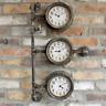 Industrial Vintage Style Pipe Wall Clock Rustic Metal Steampunk Metal Fittings