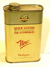 Vintage STANHOME Quick Lustre Automobile Polish Pint Can ½ Full 1953.