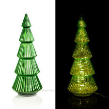 Großer XXL LED Tannenbaum aus Glas mit Timer - Grün - Weihnachtsdeko für außen