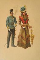 """""""Künstlerkarte, Frauen, Männer"""" 1900, Edgar Schmidt, Dresden-Budapest ♥"""