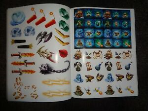 COMPLETE Stickers UNUSED Skylanders Spyro's Adventure Official Sticker Book L@@K