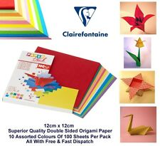 Origami Paper 12 x 12cm Double Sided Multicolour Paper 80gsm 100 Sheets (1 Pack)