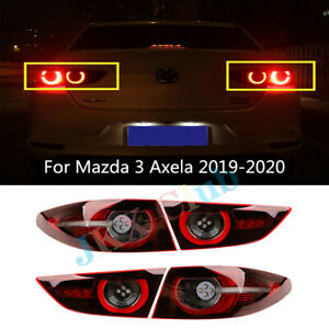 For Mazda 3 Axela 2019-2021 j Pair LED Rear Tail Light Lamp Brake ASSY