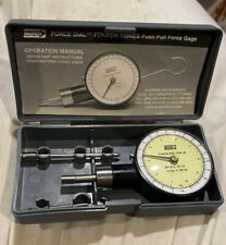 Wagner Instruments FDK-20 Push Pull Force Dial Gage 2 x .25 lb w/Case & Book