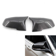 Pair of M3 Look Mirror Covers Carbon Fiber Fit for BMW F30 13-17 Sedan US Stock