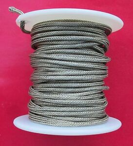 25 feet Vintage Style Guitar Braided Shielded Push-Back Cloth Wire MADE IN USA
