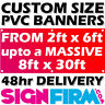 PVC BANNERS - PRINTED OUTDOOR SIGN VINYL - ANY SIZE ADVERTISING / JUBILEE POSTER