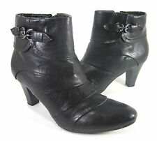 "LIFESTRIDE WOMEN'S ""YARDLY"" ANKLE BOOTS BLACK SYNTHETIC US SIZE 6.5 MEDIUM (B)M"