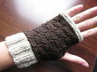 Hand Knitted Gloves Fingerless Mittens Australia Made