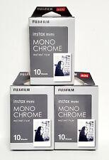 3x FUJIFILM Instax mini Monochrome Instant Film, 10 ct each -EXP 05/2020 #D-14