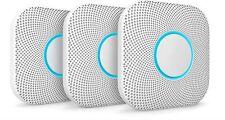 3x Google Nido proteger humo y monóxido de carbono Alarma Batería de 2nd generación