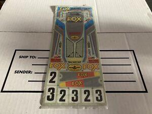 TAMIYA THE FOX 5851 VINTAGE DECALS, NOS